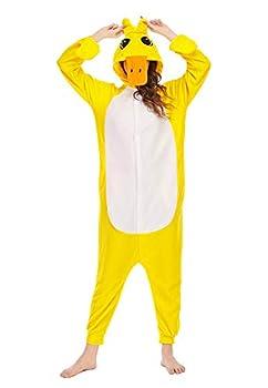NAITOKE Yellow Duck Onesie Costume for Adults Women Men