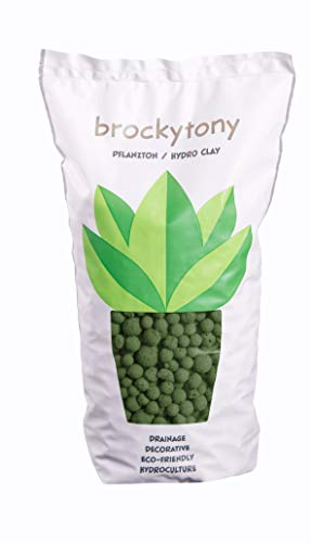 brockytony 8-16 mm. (Pflanzton, Pflanzgranulat, Blähton) 2 Liter. Oliv. BT858Y2