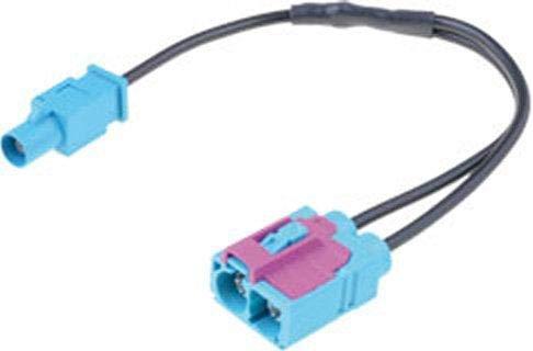 Adaptateur antenne 2x Fakra F vers 1x Fakra M compatible avec Audi VW ap08