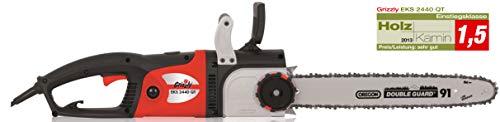 Grizzly Tools Elektro Kettensäge EKS 2440 - Motorsäge mit 2400 Watt, 46 cm Schwertlänge, Oregon Kette und Schwert, Längsmotor für ideale Gewichtsverteilung