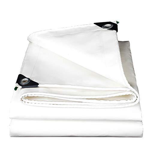 TAO Weiße Zelt-Markisen gepolsterte wasserdichte Regenschutz-Sonnenschutzplane für LKW, Boot, Camping, Dach oder Pool (0.46mm, 500g / ㎡) (größe : 4x8m)