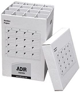 Adir Corrugated Cardboard 16 Roll File (for Rolls up to 25 Inches Long) Upright Storage Cabinet