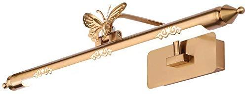 Carl Artbay Shuai mooie lamp/ * LED kaptafel gouden badkamerlicht toilet vochtbestendig vlinder spiegelkast licht (uitgave: neutraal licht 62cm)