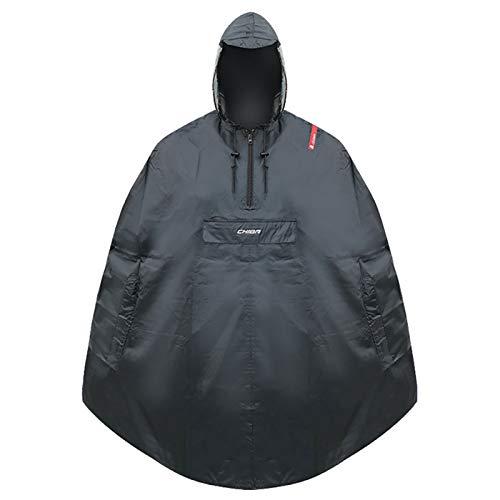 Chiba Rain Poncho Vestes Homme, Noir, XL/XXL