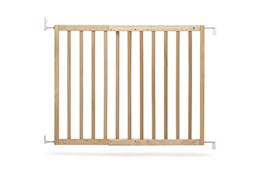 Geuther 2700 NA Modilok - Barrera de seguridad para puertas y escaleras, de madera, 2700, natural, para atornillar, sin barreras, apto para 63-103 cm, marrón, 3.05 kg