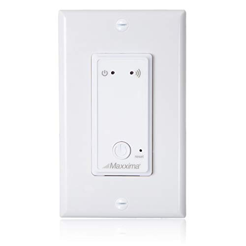 Maxxima WiFi Enabled Smart Light Switch, Voice Control Compatible, Compatible with Alexa, Wall Plate Included