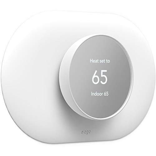 elago Wall Plate Cover Plus Compatible with Google Nest Thermostat 2020 [White] - Durable Polycarbonate Material, Easy Installation, Complementary Design