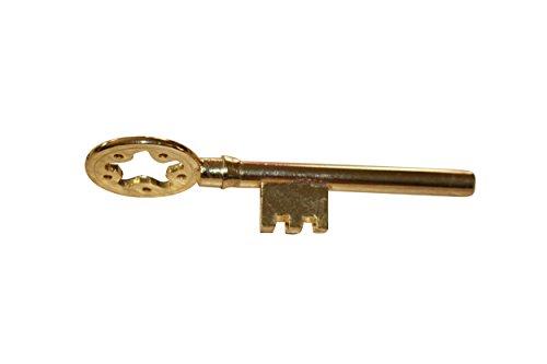 The GOLDEN Key - Zaubertrick inkl. Deutscher Anleitung, Goldener Schlüssel verändert Seine Form, Zauberartikel aus Metall, Untersuchbare Zaubertricks