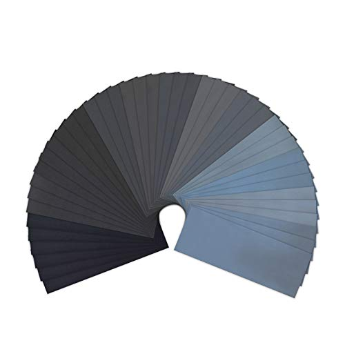 120 to 5000 Assorted Grit Sandpaper for Wood Furniture Finishing, Metal Sanding and Automotive Polishing, Dry or Wet Sanding, 9...