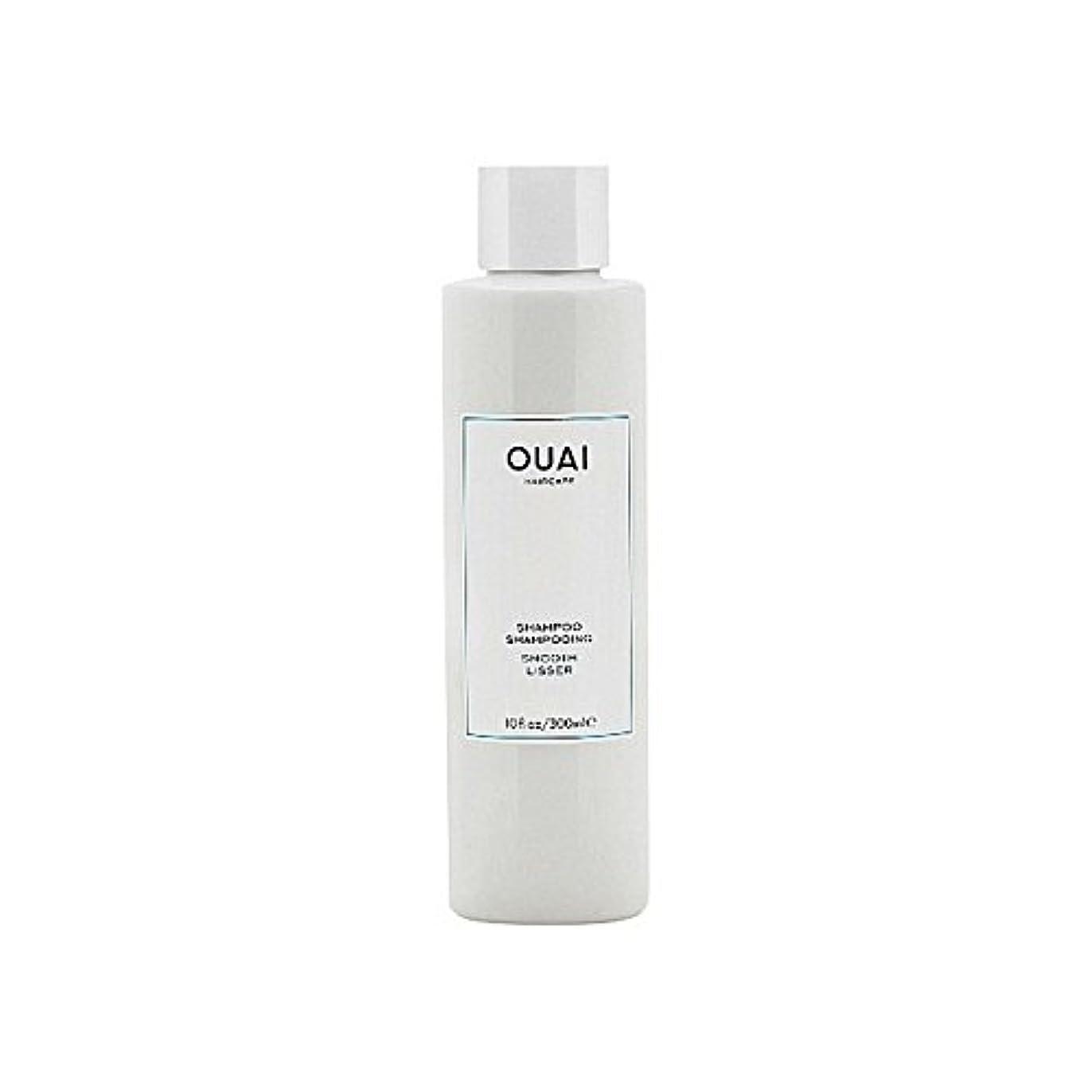 船員フェードアウト野ウサギスムーズなシャンプー300ミリリットル x2 - Ouai Smooth Shampoo 300ml (Pack of 2) [並行輸入品]
