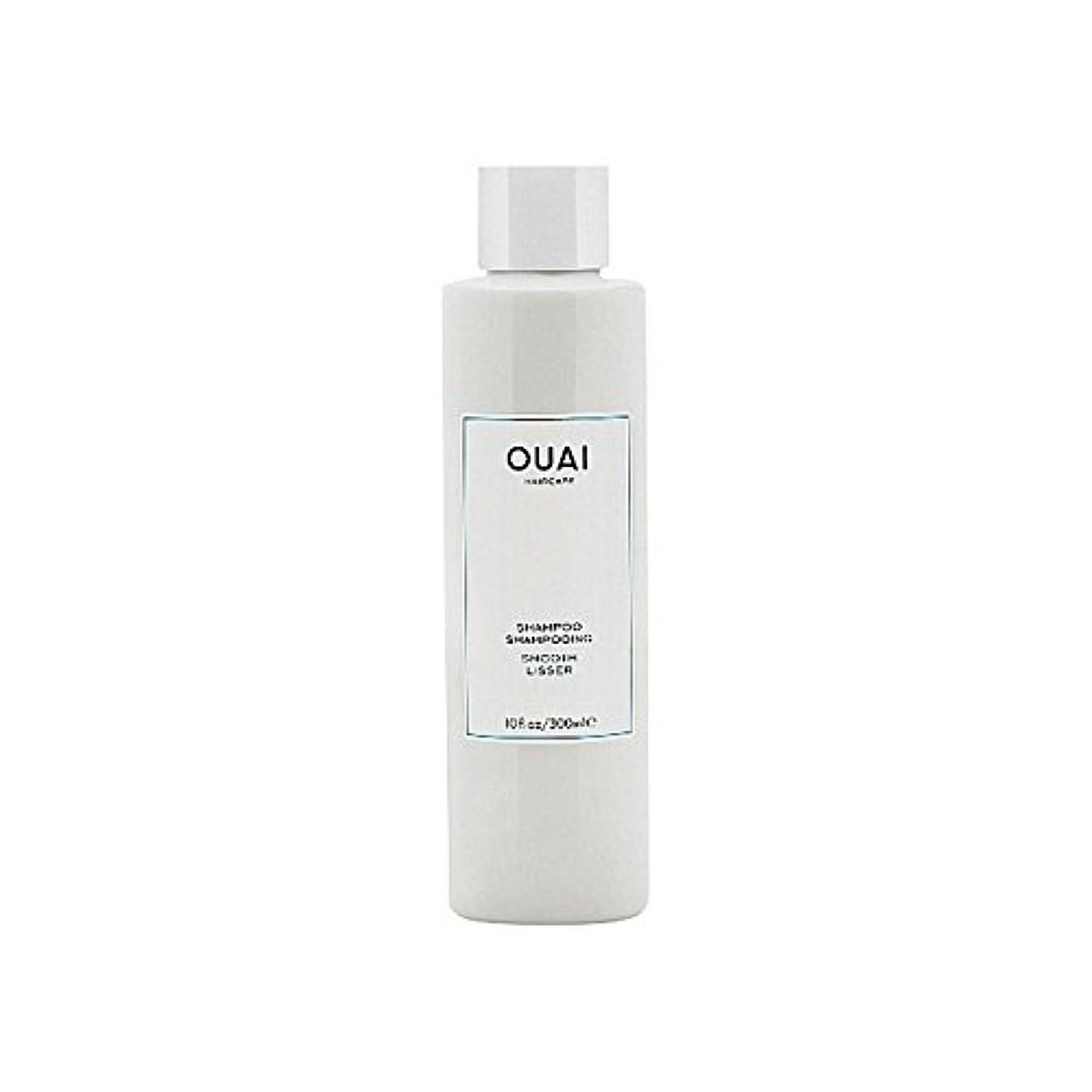 材料自体背景スムーズなシャンプー300ミリリットル x2 - Ouai Smooth Shampoo 300ml (Pack of 2) [並行輸入品]