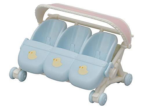 Sylvanian Families 5533 Drillings-Kinderwagen - Puppenhaus Spielset