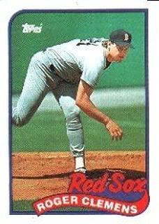 1989 Topps Baseball Card #450 Roger Clemens