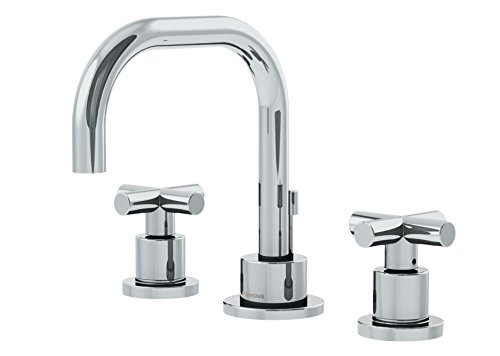 Symmons SLW-3512-H3-1.0 Dia Widespread 2-Handle Bathroom Faucet with Drain Assembly in Polished Chrome (1.0 GPM)