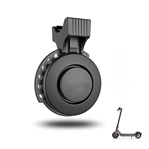 CML Ajuste para Xiaomi MIJIA M365 Scooter eléctrico Bell Electronic Bell USB Cargando Cuerno Impermeable para MTB Road Bike 3 Modos Anillo Alarma de Bicicleta (Color : Black)