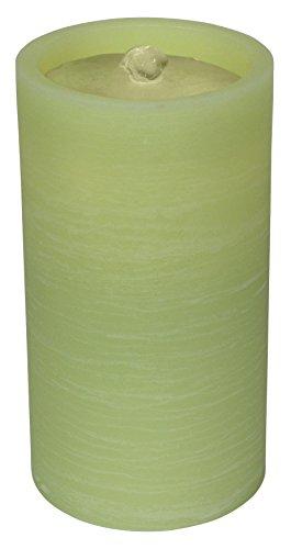 GKI Bethlehem Lighting Aquaflame Wax Flameless Candle Fountain Light Green
