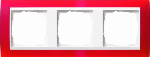 Gira Rahmen 0213398 3fach + ZR rw Event Opak rot