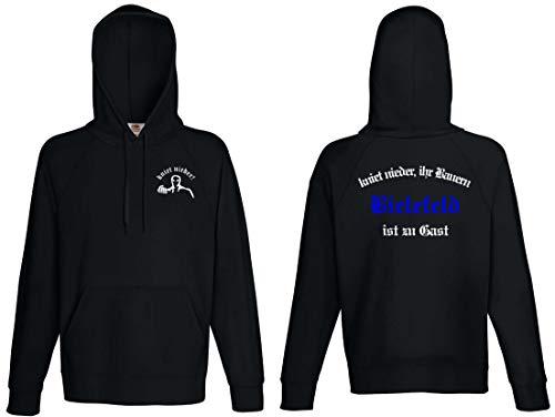 world-of-shirt / Bielefeld Herren Kapuzensweat kniet nieder Ihr Bauern