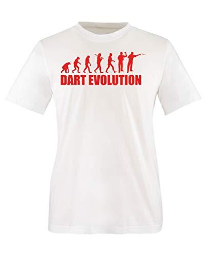 Comedy Shirts - Dart Evolution - Mädchen T-Shirt - Weiss/Rot Gr. 110-116