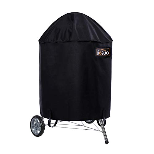 JIESUO 26 Inch Grill Cover for Weber Charcoal Kettle: Heavy Duty Waterproof Weather Resistant Barbeque Grill Covers