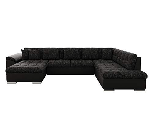 Mirjan24 Eckcouch Ecksofa Niko! Design Sofa Couch! mit Schlaffunktion! U-Sofa Große Farbauswahl! Wohnlandschaft! (Ecksofa Links, Soft 011 + Lawa 06)
