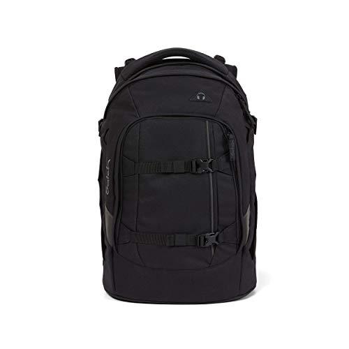 satch Pack Blackjack, ergonomischer Schulrucksack, 30 Liter, Organisationstalent, Schwarz