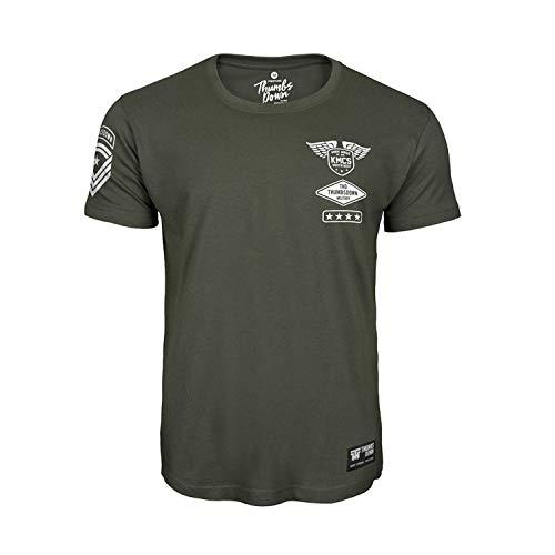 Thumbs Down Krav Maga T-Shirt para Hombre. KMCS Military. Gym. Training. Artes Marciales(Talla Large)