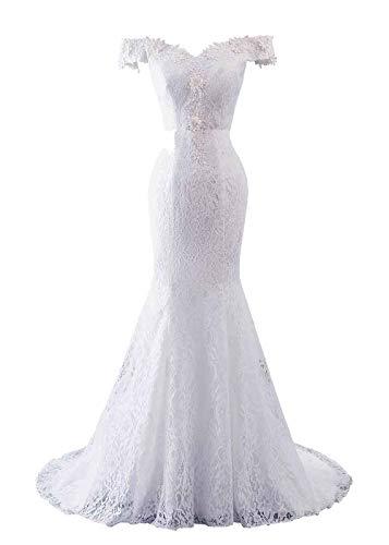 Mermaid Wedding Dress Off the Shoulder Size 12