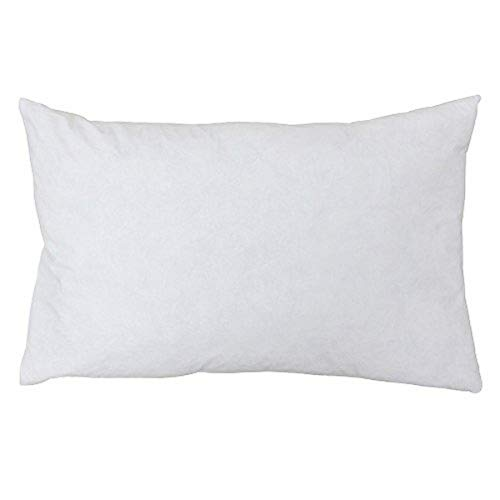 Riva Paoletti 100% Finest White Duck Feather Cushion Inner Pad, 40 x 60cm, Cotton, Ivory