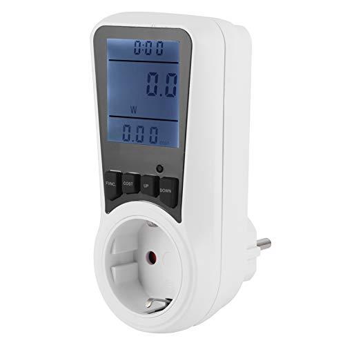 SALUTUYA Monitor de Uso de Electricidad, Pantalla de vataje 0W-3680W, medidor de vatios, Accesorios eléctricos