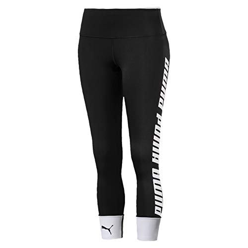 PUMA Damen Modern Sports FoldUp Legging Sporthose, Black-White, S