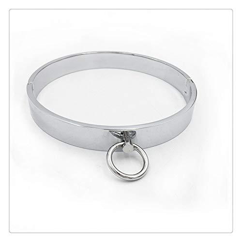 Z-one 1 Collar de metal Particular Fashion Sexy Light Choker Collar Cat Silver Choker