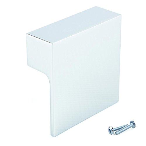 M4TEC Möbelknopf Möbelgriff Schubladengriff Knopfgriff Schlafzimmer Küchenschrank Chrom Poliert. Q6 Serie: 60 x 60 mm