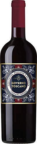 Governo Toscano Rosso Toscana Rotwein italienischer Wein trocken IGT Italien (3 Flaschen)