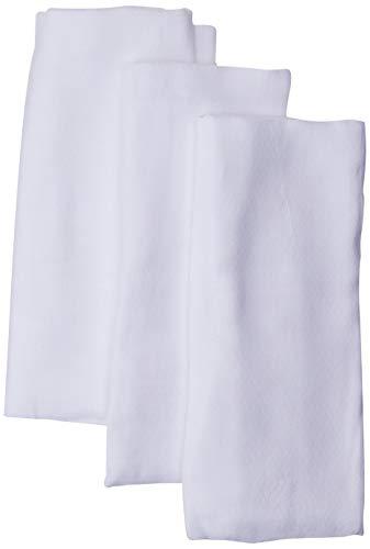 Toalha De Fralda Super Luxo Mami Branca Contem 03 Un, Papi Textil, Branco, 1, 20m X 70cm, pacote de 3