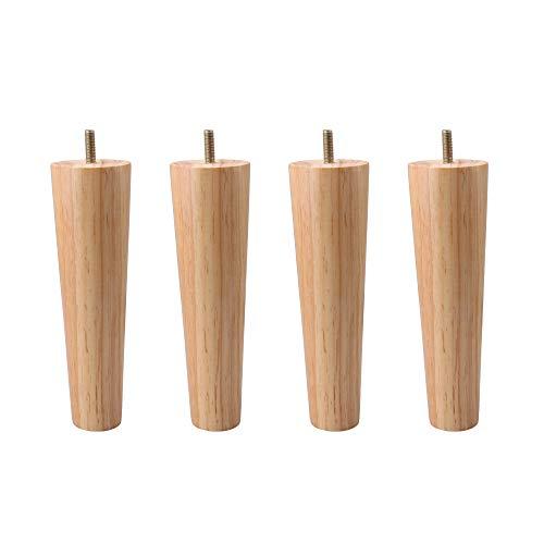 BQLZR - Patas de repuesto para sofá (20 cm, madera maciza, 4 unidades)
