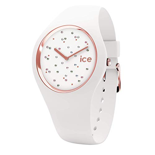 Ice-Watch - Ice Cosmos Star White - Reloj Blanco para Mujer con Correa de Silicone - 16297 (Medium)