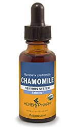 bottle of chamomile tincture as a natural teething remedie