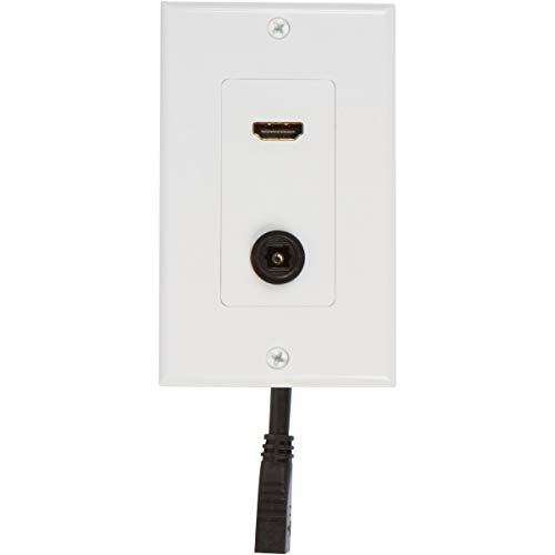 Buyer's Point HDMI Toslink Wall Plate