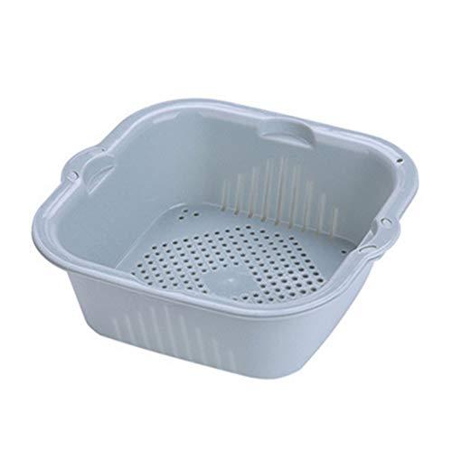 ZUOLUO Colapasta Colino Filtro da Cucina Piccolo Colino Gadget da Cucina per La Cottura Sink Cestello Blue,One Size