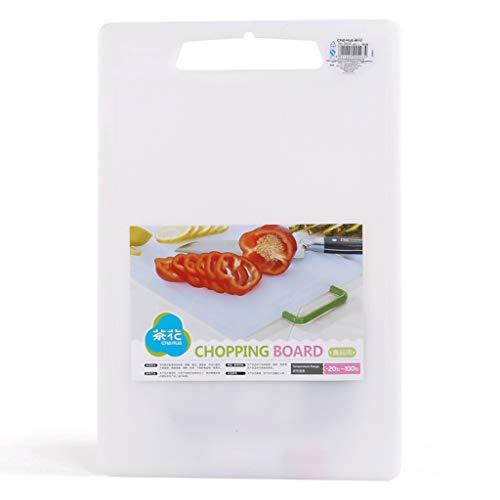 Chopping board Práctica tabla de cortar gruesa de plástico para cocina, hogar, tamaño rectangular, complementario para cuchillos de alimentos, utensilios de cocina (tamaño: 43 x 28 cm)