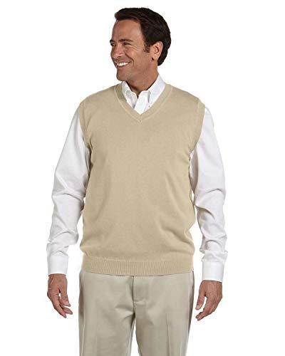 Devon & Jones Mens V-Neck Vest(D477)-Stone-L