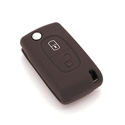 Funda de llave de silicona para Peugeot 207- 307- 308- 407 con 2botones