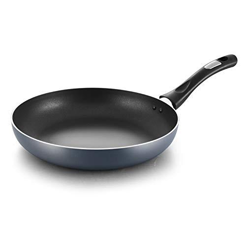 COOKER KING 10 Inch Nonstick Frying Pan PFOA/Toxin Free Induction Skillet AntiWarp Base Saute Pan With Handle Dishwasher safe Crepe Pan Oven Safe Skillet Nonstick Omelette 10#039#039 Blue