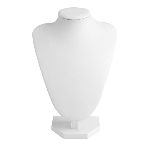 luosh Halskette Schmuck Anhänger Display Stand Halter zeigt Stand Kunstleder Schaufensterpuppe Hals Büste Stand Showcase