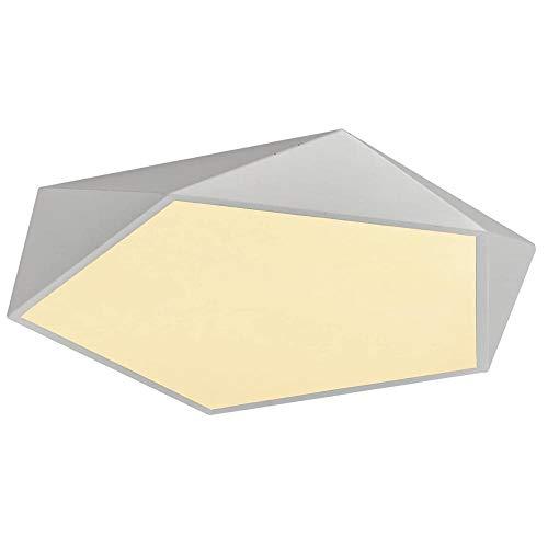 Lámpara de techo cálida de 40 W, moderna, creativa, geométrica, para habitación de los niños, dormitorio, estudio, pasillo, salón, luz blanca cálida