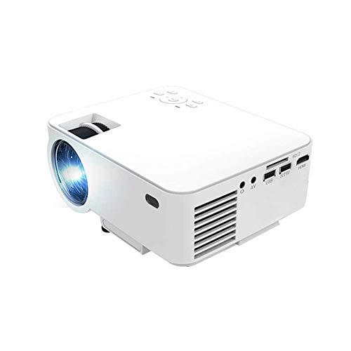 OFF Proyector, Mini proyector de Video portátil LED con Altavoces duales 30000 Horas Soporte HD 1080P HDMI/VGA/TF/AV/USB, computadora portátil/TV Box/teléfono / PS4 for Entretenimiento en