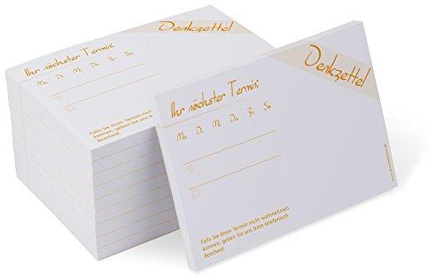 Terminblock Classic #1 orange (10 Blöcke) je 50 Terminzettel für Ärzte, Physio, Massage, Kliniken
