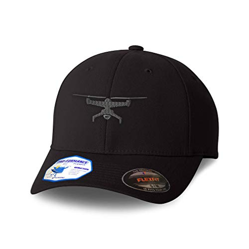 Flexfit Hats for Men & Women Drone Picture A Embroidery Polyester Dad Hat Baseball Cap Black Design Only Large XLarge