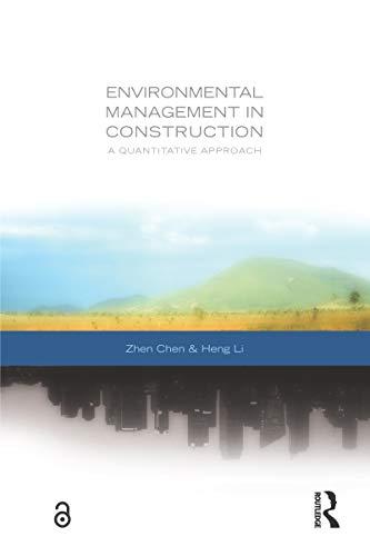 Couverture du livre Environmental Management in Construction: A Quantitative Approach (English Edition)